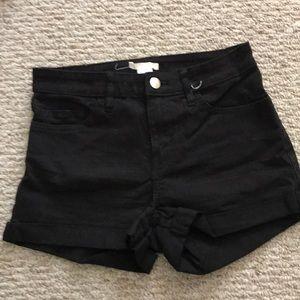 Black H&M shorts size 4